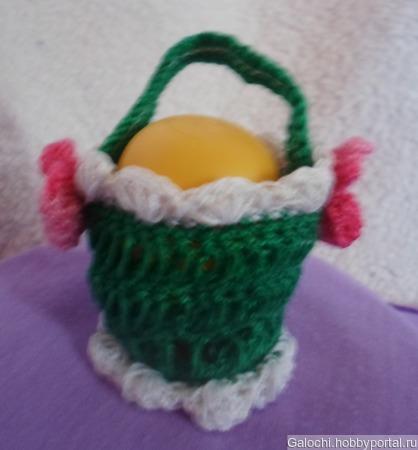 Корзинка для яиц зелёная Я.4.2.2.3.4 ручной работы на заказ