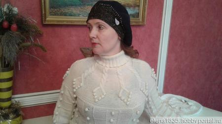 Свитер тёплый женский,связанный спицами из шерсти ручной работы на заказ