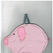 "Прихватка ""Свинка"" розовая с тёмнорозовыми ушками 4.1.1.1.3.1.1"