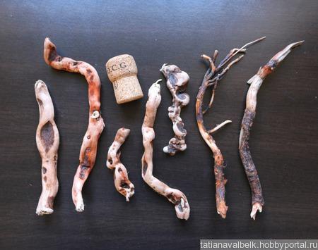 Дерево морское тонкие деревяшки дрифтвуд 7-18 см Лот 4 ручной работы на заказ