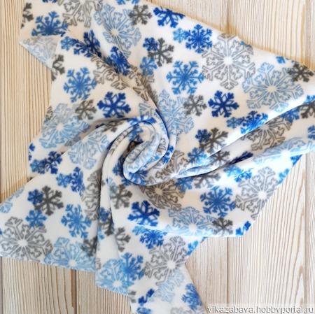Набор тканей флис голубой синий ручной работы на заказ