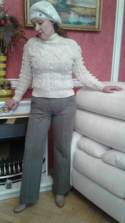 Берет женский летний, связанный крючком ручной работы на заказ