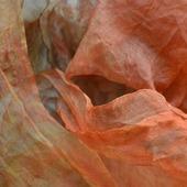 """Шелковый шарф батик """"Ржавчина"""" органза оранжевый красный коричневый"""
