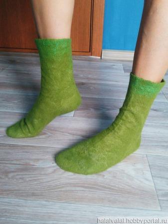 Валяные носочки ручной работы на заказ