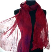 Шелковый шарф женский натуральный шелк шифон