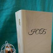 Шкатулка-книга, фолиант. Заготовка сосна, фанера.