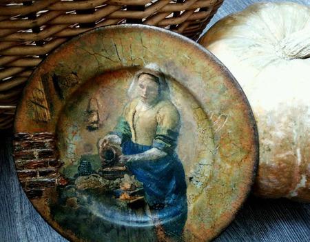 Тарелка декоративная интерьерная ручной работы на заказ