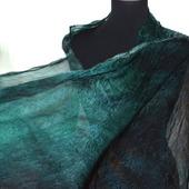 Шелковый шарф палантин длинный широкий женский шелковый шарф