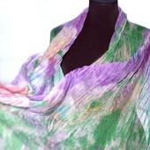 Женский шелковый шарф из натурального шелка шифон