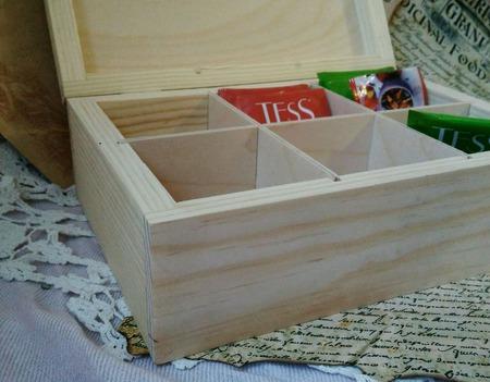Чайная шкатулка большая на 6 отделов ручной работы на заказ