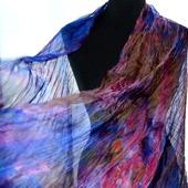 Шифоновый женский шарф натуральный шелк