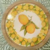 """Сырная разделочная доска для сервировки """"Лимоны"""""""