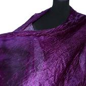 Шелковый шарф женский фиолетовая фуксия натуральный шелк