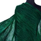 Темно зеленый теплый Шарф шерсть и шёлк ручная работа