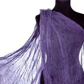 Серо сиреневый Тонкий шифоновый женский шарф натуральный шелк
