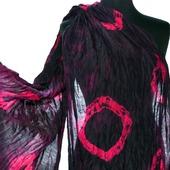 Шарф черно малиновый женский шерсть и шёлк ручная работа