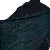 Темно сине зеленый Шарф шерсть и шёлк ручная работа