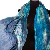 Тёплый Шарф шерсть и шёлк ручная работа окраска шарф с бахромой