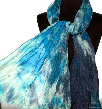 Тёплый Шарф шерсть и шёлк ручная работа окраска шарф с бахромой ручной работы на заказ