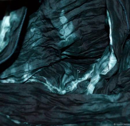 Темно зеленый теплый Шарф шерсть и шёлк ручная работа ручной работы на заказ