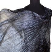Темно серый шелковый шарф