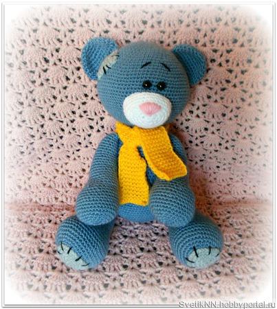 Мишка Тедди вязаный ручной работы на заказ
