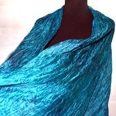 Шарф шелковый цвета морская волна