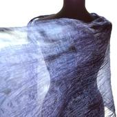 Шелковый шарф ручной окраски