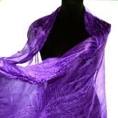 Шарф шелковый фиолетовый женский