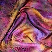 Платок пейсли восточный огурец яркий женский шейный
