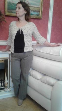 Жакет женский нарядный,вязанный спицами ручной работы на заказ
