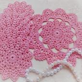 Комплект салфеток подставок под горячее розовый