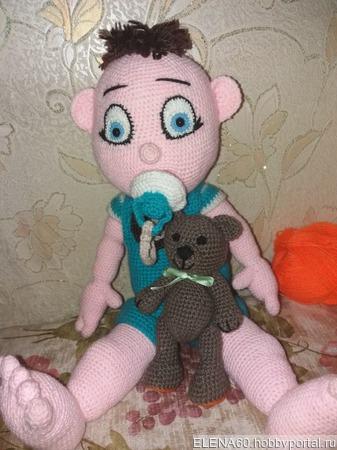 Игрушки вязаные - Малыш ручной работы на заказ
