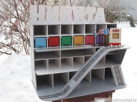 Гараж парковка для детских машинок ручной работы на заказ