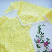 Платье летнее ажурное на годик