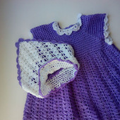 Платье для девочки вязаное