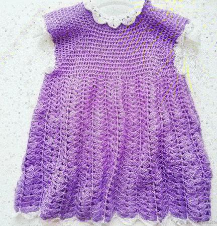 Платье для девочки вязаное ручной работы на заказ