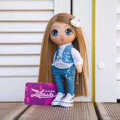 Кукла текстильная с расписным лицом ручной работы