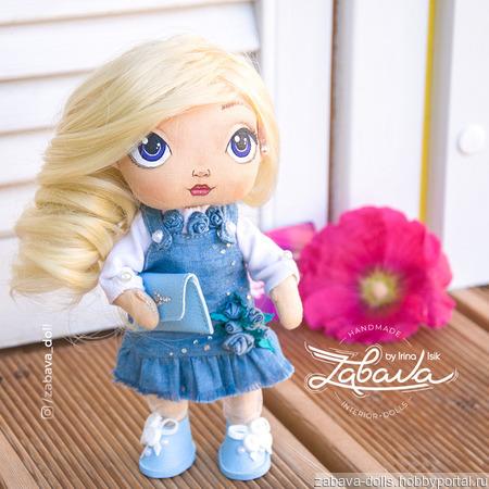 Кукла текстильная с расписным лицом для игры и украшения ручной работы на заказ