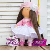 Кукла текстильная ручной работы с длинными волосами