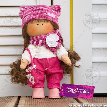 Кукла текстильная ручной работы с длинными волосами ручной работы на заказ