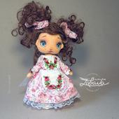 Кукла текстильная с расписным лицом для игры и украшения