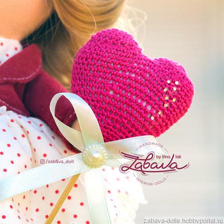 Кукла текстильная ручной работы с шикарными волосами ручной работы на заказ