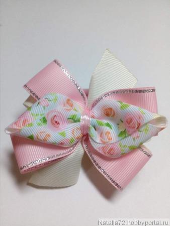 Резиночка для волос в стиле канзаши ручной работы на заказ