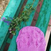 Объемная ажурная шапочка - берет
