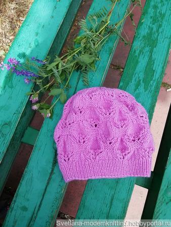 Объемная ажурная шапочка - берет ручной работы на заказ