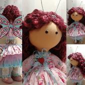 Куколка-малышка, бабочка Анютка