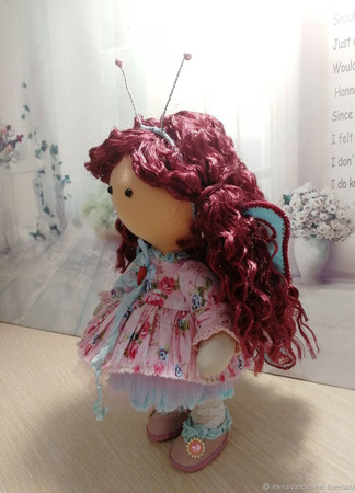 Куколка-малышка, бабочка Анютка ручной работы на заказ
