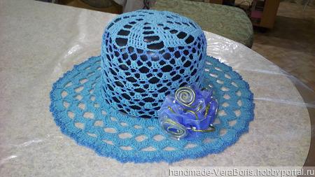 Летняя вязаная шляпа ручной работы на заказ