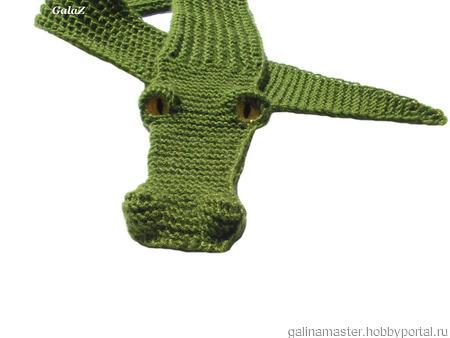 """Описание работы шарф """"Крокодильчик"""" ручной работы на заказ"""